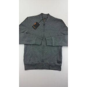 Ben Sherman Mens Sweater Jacket M Pockets Full Zip